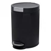卡爾緩降超靜音踏式垃圾桶5L 黑色
