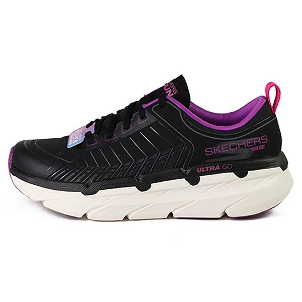 SKECHERS 女慢跑系列 輕便靈敏的ULTRA GO中底,鉸接式中底,抗撕裂網布鞋面 128133BKPR 黑紫