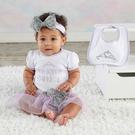 彌月禮 Baby Aspen BAS 短袖包屁衣洋裝+髮帶+圍兜 套裝3件組 (禮物 禮品 送禮) - 淡紫小公主 BA11079NA