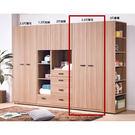 【森可家居】諾拉系統2.5尺單吊衣櫥(單...