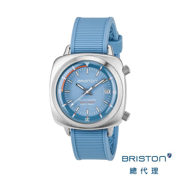 【官方旗艦店】BRISTON DIVER 海龜自動潛水錶 天空藍 不鏽鋼框 運動矽膠錶帶 經典型男款