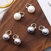 小耳圈.時尚個性誇張大珍珠耳環.白鳥麗子