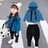 女童裝秋裝時髦套裝0春秋款2女寶寶1秋季3歲洋氣嬰兒童韓版潮衣服