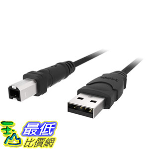 [7美國直購] 延長線 BELKIN F3U133b06 6ft USB 2.0 Ab Device USBa/usbb Bag  Label