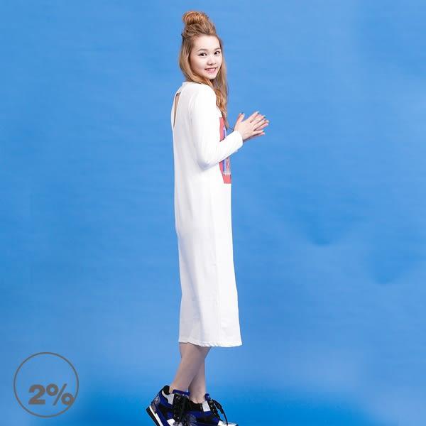 【2%】2%  X WIP  背部簍空長版洋裝