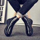 秋季男鞋馬丁靴沙漠男靴子韓版潮流中幫英倫軍靴百搭工裝高幫鞋男 維多原創 免運