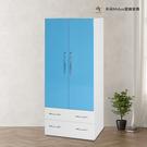 【米朵Miduo】2.7尺兩門兩抽塑鋼衣櫃 衣櫥 防水塑鋼家具