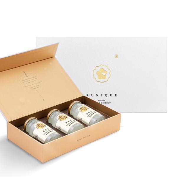 【潤燕窩】黃金特潤冰糖燕窩禮盒(140ml x3瓶) 冰糖燕窩 送禮推薦
