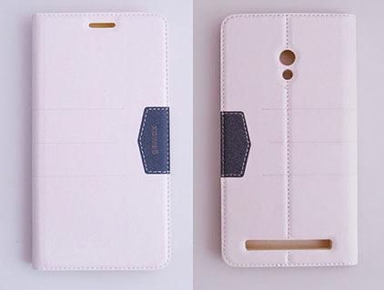 gamax完美系列 ASUS ZenFone 6(A600CG) 簡約綴色側翻手機保護皮套 磁吸可插卡可支撐 全包防摔