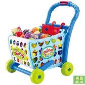 扮家家兒童購物車玩具女孩過家家超市小推車寶寶水果手推車玩具仿真大號