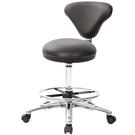 GXG 立體圓凳加椅背 吧檯椅(寬鋁腳+踏圈) 型號81T2 LU1K