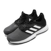 adidas 網球鞋 GameCourt M 黑 白 男鞋 運動鞋 【PUMP306】 EG2009
