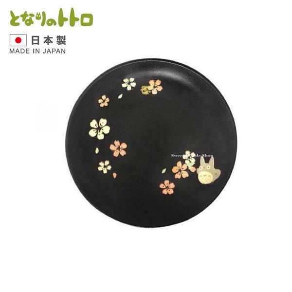 【SAS】【 日本製 】日本限定 宮崎駿 龍貓 美濃燒 和風花系 陶瓷盤子 / 餐盤 18cm
