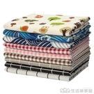 印花棉麻布料簡約碎花布北歐ins格子窗簾沙發亞麻布桌布手工diy布 生活樂事館