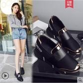 運動鞋女20新款休閒一腳蹬韓版時尚學院風單鞋女內增高女鞋子 聖誕節免運