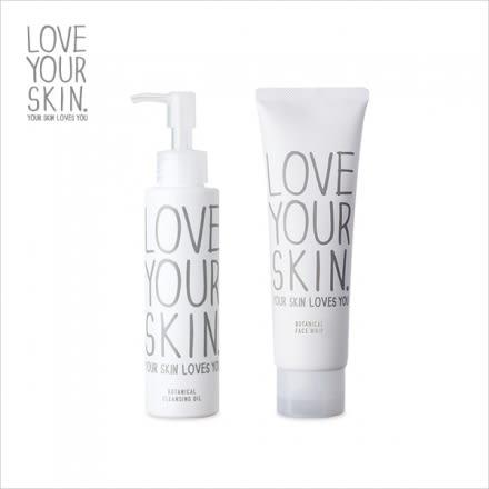 LOVEYOURSKIN 植物性卸妝油(120ml) / 植物性泡沫洗面霜(120g)