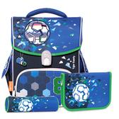 TigerFamily 小學者超輕量護脊書包+文具袋+鉛筆盒--8號足球