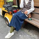 Sinbounboun自制 韓版直筒A字開叉中長款藍色牛仔半身裙女 聖誕節全館免運