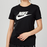 Nike AS W NSW TEE ESSNTL ICON FUTUR 女子 黑色 基本款 短袖 BV6170-010
