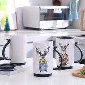 全館85折馬克杯創意陶瓷杯大容量可愛馬克杯帶蓋勺子牛奶杯水杯咖啡杯情侶杯對杯