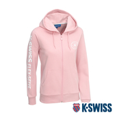 K-SWISS Branding Logo Hoodie Jacket刷毛連帽外套-女-粉紅