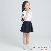 【GIORDANO】童裝勝利獅王3D刺繡短袖POLO衫(30 標誌白)