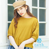 ❖ Hot item ❖ 圓領蓬袖素面上衣 - earth music&ecology