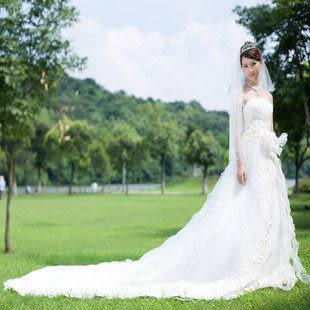 浪漫新娘品牌 開業巨獻豪華大拖尾婚紗