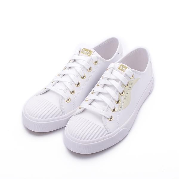 KEDS CREW KICK 皮革綁帶休閒鞋 白 9203W123103 女鞋 平底│小白鞋