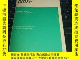 二手書博民逛書店Leaves罕見of Grass and Selected ProseY32667 Whitman, Walt