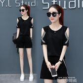 運動套裝女2018夏季新款寬鬆韓版大碼短袖短褲服時尚兩件套潮 依凡卡時尚