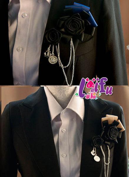 ★草魚妹★Y13玫瑰主持演出胸針胸花結婚新郎領結表演,售價200元
