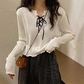 长袖针织衫女秋季 宽松显瘦打底衫短款早秋上衣【少女顏究院】