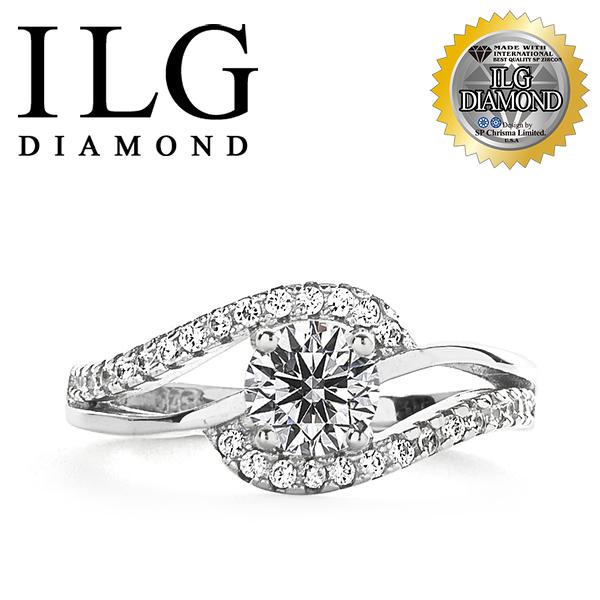 【ILG鑽】頂級八心八箭鑽石戒指- 50分流轉年華 RI136 氣質晚宴款式