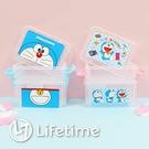 ﹝哆啦A夢雙層雙扣置物盒﹞正版 置物盒 雙扣 雙層 收納 小叮噹〖LifeTime一生流行館〗