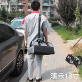 加厚電工工具包帆布五金 單肩多功能手提 維修斜垮包工作包電信袋 可可鞋櫃