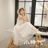 背心/吊帶裙 純色紗裙莫代爾寬松大碼網紗蕾絲打底連身裙高腰長裙