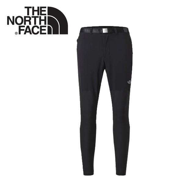 【The North Face 男 DWR防潑水長褲《黑》】3CHH/緊身長褲/健行褲/運動褲