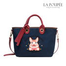 手提包 可愛倉鼠先生圖案撞色帆布包 3色-La Poupee樂芙比質感包飾 (現貨+預購)