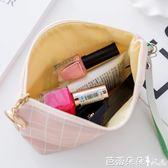 化妝包 可愛化妝包韓國大容量手拿包女化妝品收納包簡約便攜小號零錢包【芭蕾朵朵】