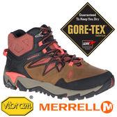 【MERRELL 美國】BLAZE 2女GORE-TEX 中筒多功能健行鞋『黃棕/橘』12092機能鞋.登山鞋GTX