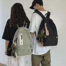 後背包 日系原宿簡約休閒帆布書包男時尚潮流韓版高中大學生後背包背包女 晶彩 99免運