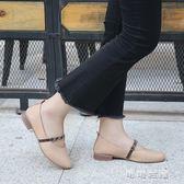 秋季低跟韓版百搭圓頭小皮鞋女粗跟淺口英倫休閒風豆豆鞋 可可鞋櫃