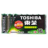 TOSHIBA 東芝 環保碳鋅3號電池 16入 AA 1.5V 型號LR6