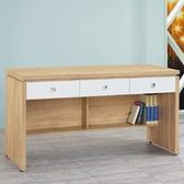 【水晶晶家具/傢俱首選】CX1453-4安寶橡木白151.5公分三抽辦公桌下座