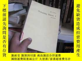 二手書博民逛書店7656罕見?probability?theory?I19636