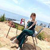 連身褲 2020韓版寬鬆雪紡抹胸吊帶一字肩闊腿連體褲