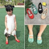 包頭網鞋兒童鳥巢女涼鞋女童羅馬沙灘鞋洞洞鞋