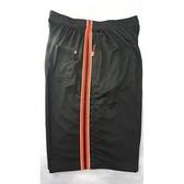 加大碼運動短褲【30-48腰】8160-2-15-5L💖黑色撘雙紅條撘白色細條