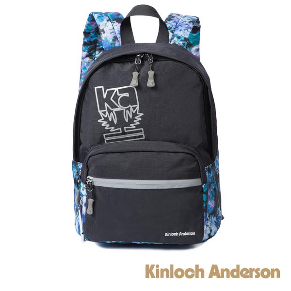 金安德森 繽紛星空 印花反光前袋造型後背包 黑色